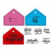 Sizzix Framelits Die Set 2PK w/Stamps - Feliz Cumpleaños (Happy Birthday)