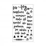 Sizzix Clear Stamps - Feliz (Happy)