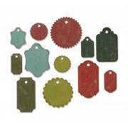 Sizzix Thinlits Die Set 12PK - Gift Tags by Tim Holtz