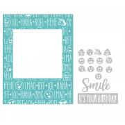 Sizzix Impresslits Embossing Folder - Birthday Smiles