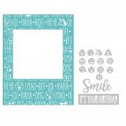 Sizzix Impresslits Embossing Folder - Birthday Smiles