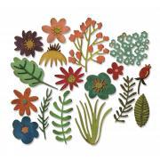 Sizzix Thinlits Die Set 17PK - Funky Floral #1 by Tim Holtz