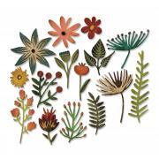 Sizzix Thinlits Die Set 15PK - Funky Floral #3 by Tim Holtz