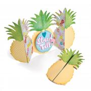 Sizzix Thinlits Die Set 10PK - Card, Pineapple Fold-a-Long