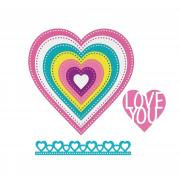 Sizzix Framelits Die Set 9PK - Hearts, Dotted