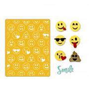 Sizzix Thinlits Die Set 10PK w/Textured Impressions - Smile Emojis