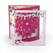 Sizzix Thinlits Die Set 5PK - Card, Floral Tri-fold