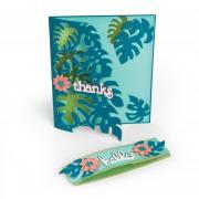 Sizzix Thinlits Die Set 5PK - Card Front, Tropicool Leaves