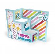 Sizzix Thinlits Die Set 13PK - Card, Birthday Shutter