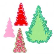 Sizzix Thinlits Die Set 7PK - Fairy Set Background Trees