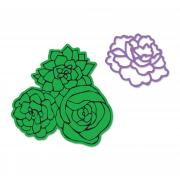 Sizzix Framelits Die Set 2PK w/Stamps - Floral Bouquet