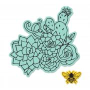 Sizzix Framelits Die Set 2PK w/Stamps - Floral Embellishments
