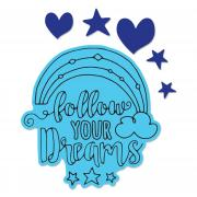 Sizzix Framelits Die Set 2PK w/Stamps - Follow Your Dreams