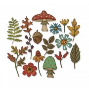 Sizzix Thinlits Die Set 16PK - Funky Foliage by Tim Holtz