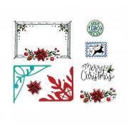 Sizzix Framelits Die Set 7PK w/Stamps - Christmas Envelope