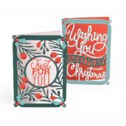 Sizzix Thinlits Die Set 4PK - Mini Card, Merry Christmas