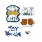 Sizzix Framelits Die Set 5PK w/Stamps - Love You a Latke