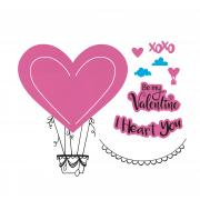 Sizzix Framelits Die Set 5PK w/Stamps - I Heart You