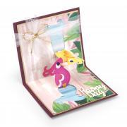 Sizzix Thinlits Die Set 8PK - Card, Love Birds 3-D