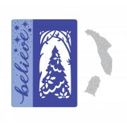 Sizzix Impresslits Embossing Folder - Magic of the Season