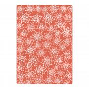 Sizzix Textured Impressions Plus Embossing Folder - Flores Navideñas (Christmas Flowers)
