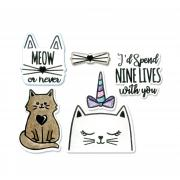 Sizzix Framelits Die Set 6PK w/Stamps - Nine Lives