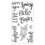 Sizzix Clear Stamps 11PK - Spring Phrases