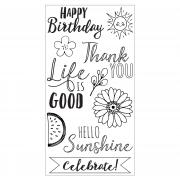 Sizzix Clear Stamps 10PK - Hello Sunshine