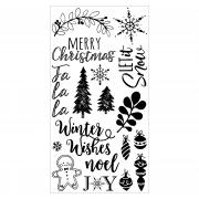 Sizzix Clear Stamps 18PK - Winter Phrases