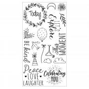 Sizzix Clear Stamps 18PK - Everyday Sentiments