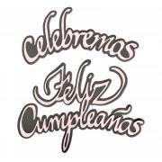 Sizzix Thinlits Die Set 4PK - Celebremos y Feliz Cumpleaños