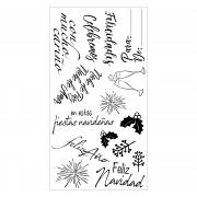 Sizzix Clear Stamps - Frases Festivas