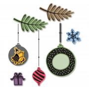 Sizzix Framelits Die Set 10PK w/Stamps - Hanging Ornaments #2
