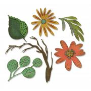 Sizzix Thinlits Die Set 6PK - Funky Floral, Large by Tim Holtz