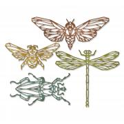 Sizzix Thinlits Die Set 4PK - Geo Insects by Tim Holtz