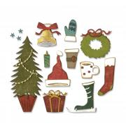 Sizzix Thinlits Die Set 12PK - Festive Things by Tim Holtz