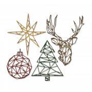 Sizzix Thinlits Die Set 4PK - Geo Christmas by Tim Holtz