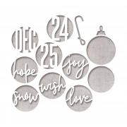 Sizzix Thinlits Die Set 12PK - Circle Words, Christmas by Tim Holtz