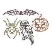Sizzix Thinlits Die Set 4PK - Geo Halloween by Tim Holtz
