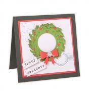 Wreath & Snowflake Card