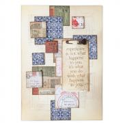 Squares Stacked Tiles Card