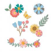 Sizzix Thinlits Die Set 20PK - Petite Petals
