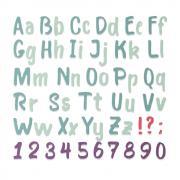 Sizzix Thinlits Die - Bold Brush Alphabet