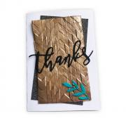 Staggered Chevrons Thanks Card