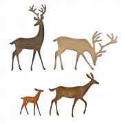 Sizzix Thinlits Die Set 4PK - Darling Deer by Tim Holtz