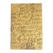 Sizzix 3-D Textured Impressions Embossing Folder - Happy Birthday