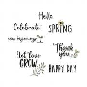 Sizzix Clear Stamps 10PK - New Beginnings