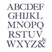 Sizzix Thinlits Die Set 28PK - Serif Alphabet