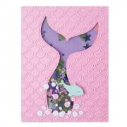 Sizzix Impresslits Embossing Folder - Scales & Tails