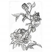 Sizzix 3-D Texture Fades Embossing Folder - Mini Roses by Tim Holtz